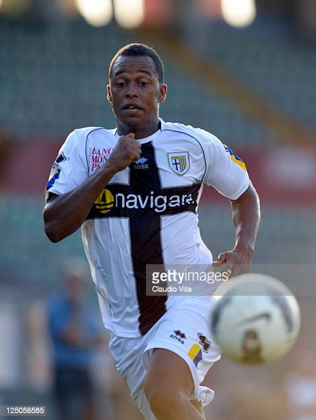 Fabiano Santacroce of Parma FC during the friendly match between Mantova and Parma FC at Danilo Martelli Stadium on September 15 2011 in Mantova Italy