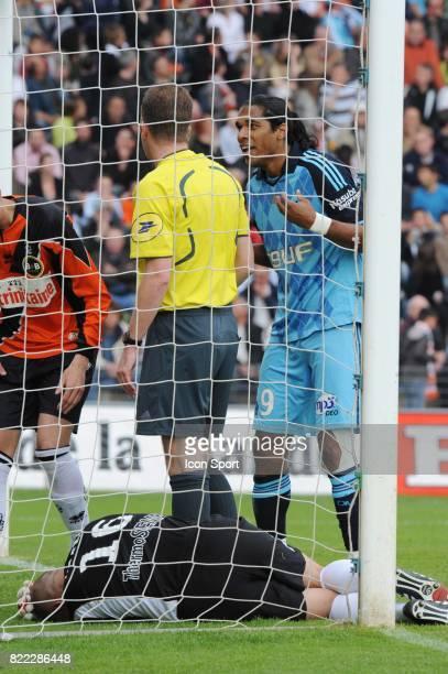 Fabien AUDARD / Olivier THUAL / BRANDAO Lorient / Marseille 32 eme journee de Ligue 2 Stade Yves Allainmat Lorient