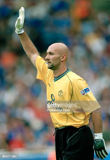 Fabien Barthez of Manchester United in action during the FA Charity Shield between Chelsea and Manchester United at Wembley Stadium on August 13 2000...