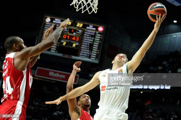 Fabien Causeur #1 forward of Real Madrid during the 2017/2018 Turkish Airlines Euroleague Regular Season Round 3 game between Real Madrid v AX Armani...