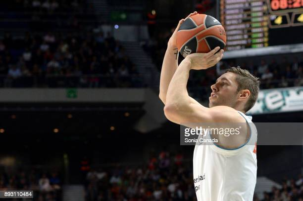 Fabien Causeur #1 forward of Real Madrid during the 2017/2018 Turkish Airlines Euroleague Regular Season Round 12 game between Real Madrid v FC...