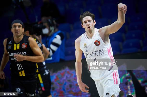 Fabien Causeur of Real Madrid during Semi Finals of King's Cup match between Real Madrid and Lenovo Tenerife at Wizink Center on February 13, 2021 in...