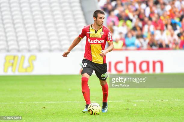 Fabien Centonze of Lens during the French Ligue 2 match between RC Lens and Troyes at Stade BollaertDelelis on August 18 2018 in Lens France