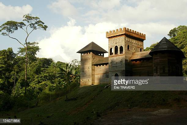 Fabien Cominotti's hand built Chateau des Choses Dernieres at the heart of the rainforest In Cacao French Guiana On August 03 2002 The castle of last...