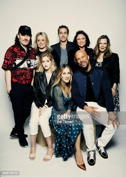 Fabien Constant Alison Benson Gus Birney Waleed Zuaiter Sarah Jessica Parker Common Jacqueline Bisset and Laura Eason of the film Blue Night pose for...