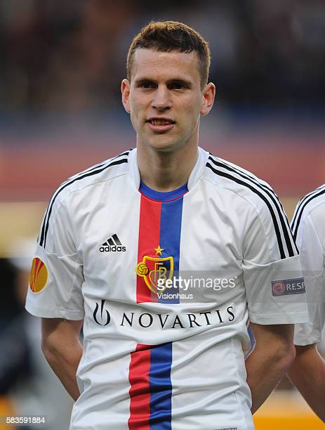 Fabien Frei of FC Basle during the Europa League SemiFinal 2nd Leg match between Chelsea and FC Basle 1893 at Stamford Bridge in London UK Photo...