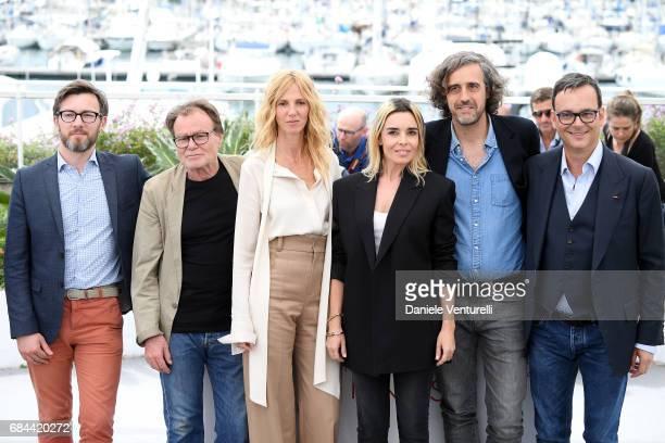 Fabien Gaffez Patrick Blossier Sandrine Kiberlain Elodie Bouchez Guillaume Brac and Michel Merkt attend Jury Camera D'Or Photocall during the 70th...