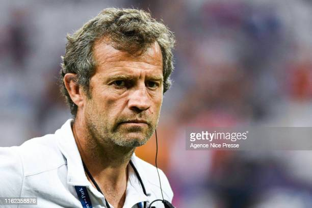 Fabien Galthié assistant coach of France during the test match between France and Scotland on August 17 2019 in Nice France