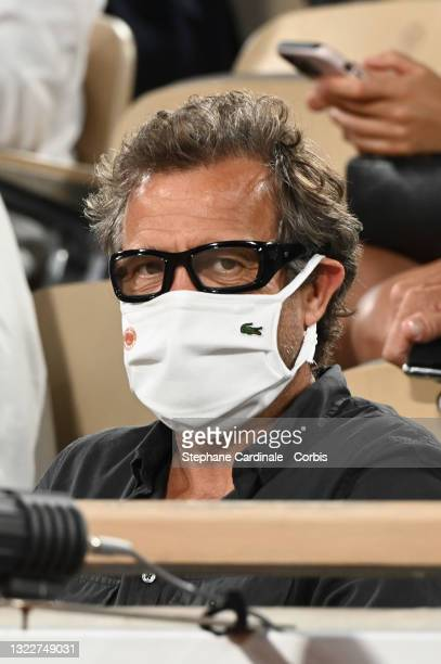 Fabien Galthié attends the French Open 2021 at Roland Garros on June 09, 2021 in Paris, France.