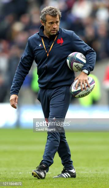 Fabien Galthie head coach of France looks on during the 2020 Guinness Six Nations match between Scotland and France at Murrayfield on March 08 2020...
