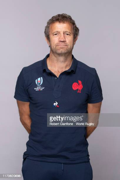 Fabien Galthie of France poses for a portrait during the France Rugby World Cup 2019 squad photo call on September 10 2019 in Fujiyoshida Yamanashi...