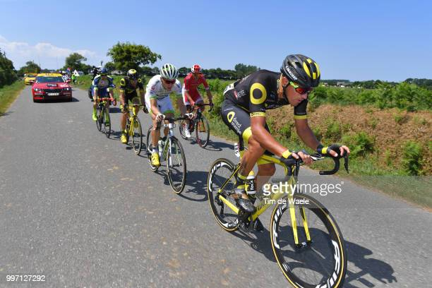 Fabien Grellier of France and Team Direct Energie / Damien Gaudin of France and Team Direct Energie / Anthony Turgis of France and Team Cofidis /...
