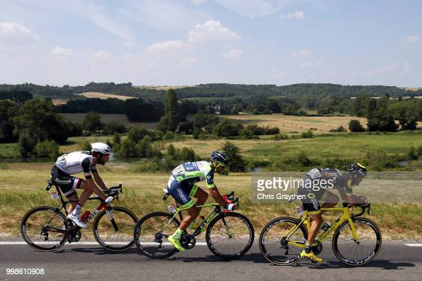 Fabien Grellier of France and Team Direct Energie / Marco Minnaard of The Netherlands and Team Wanty Groupe Gobert / Michael Matthews of Australia...