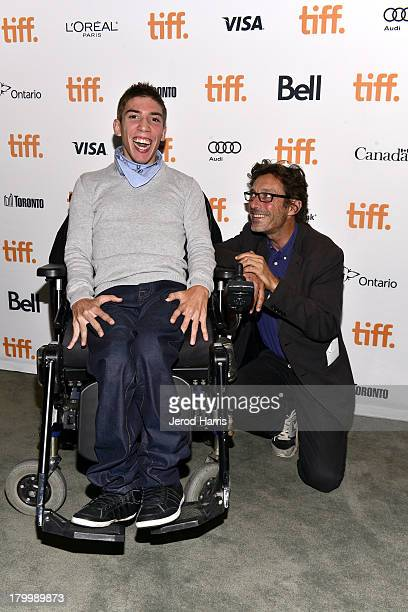 Fabien Heraud and actor Nils Tavernier attend The Finishers premiere during the 2013 Toronto International Film Festivalat TIFF Bell Lightbox on...