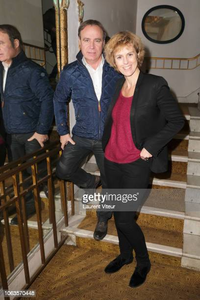Fabien Lecoeuvre and Anne Richard attends 'BoeigBoeing' Generale Theater Play at Theatre Daunou on November 19 2018 in Paris France