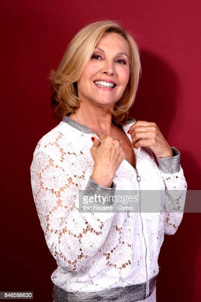 Fabienne Amiach poses during a portrait session in Paris France on