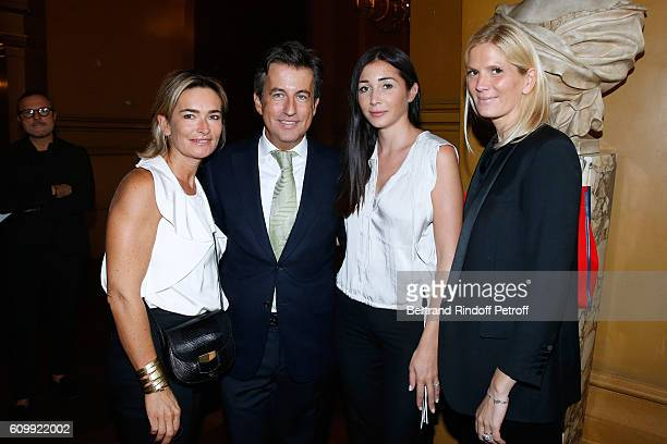 Fabienne Bazire Cyril Karaoglan Margaux Reiffers and Segolene FrereGallienne attend Cyril Karaoglan receives the Medal of Commander of Arts and...