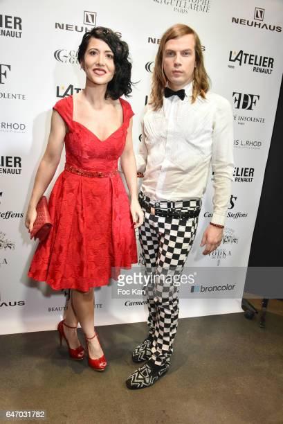 Fabienne Carat and Christophe Guillarme attend the Christophe Guillarme show as part of the Paris Fashion Week Womenswear Fall/Winter 2017/2018 on...
