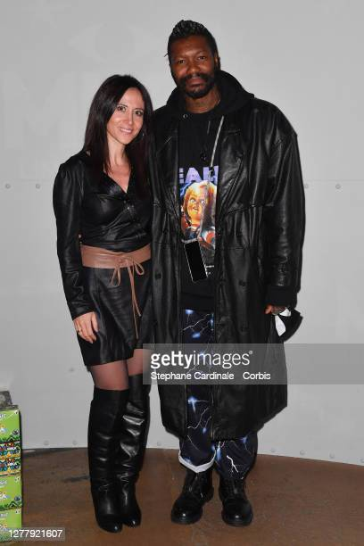 Fabienne Carat and Djibril Cissé attend the Lotus By Mika Launch Party as part of Paris Fashion Week Womenswear Spring Summer 2021 on October 01 2020...