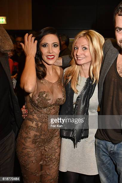 Fabienne Carat and her sister Carole Carat attend the Chocolate fashion show as a part of the Salon Du Chocolat 2016 Chocolate Fair at Parc des...