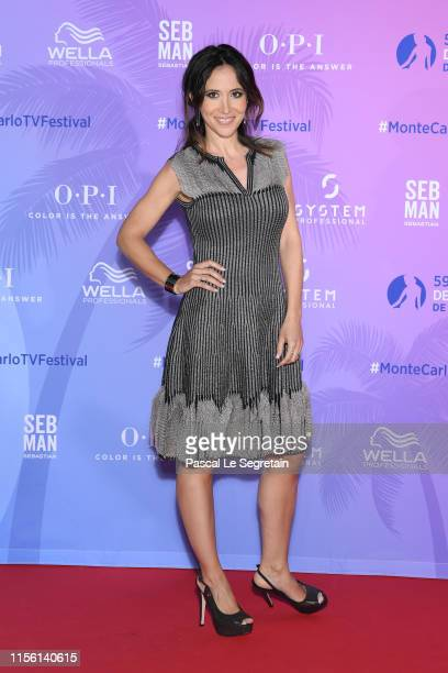 Fabienne Carat arrives at the 59th Monte Carlo TV Festival TV Series Party on June 15 2019 in MonteCarlo Monaco