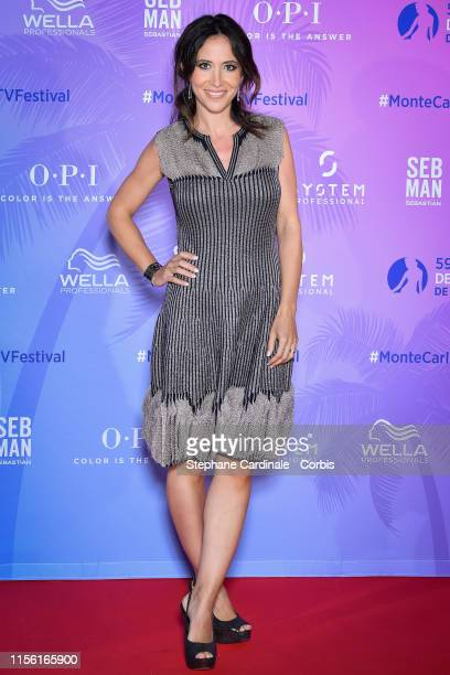 Fabienne Carat arrives at the 59th Monte Carlo TV Festival : TV Series Party on June 15, 2019 in Monte-Carlo, Monaco.