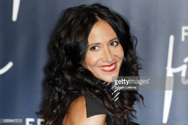 Fabienne Carat attends closing ceremony photocall of the 20th Festival of TV Fiction on September 15 2018 in La Rochelle France