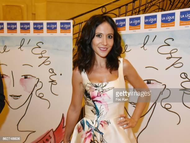 Fabienne Carat attends the 'Gala de L'Espoir' Auction Dinner Against Cancer at the Theatre des Champs Elysees on October 17, 2017 in Paris, France.