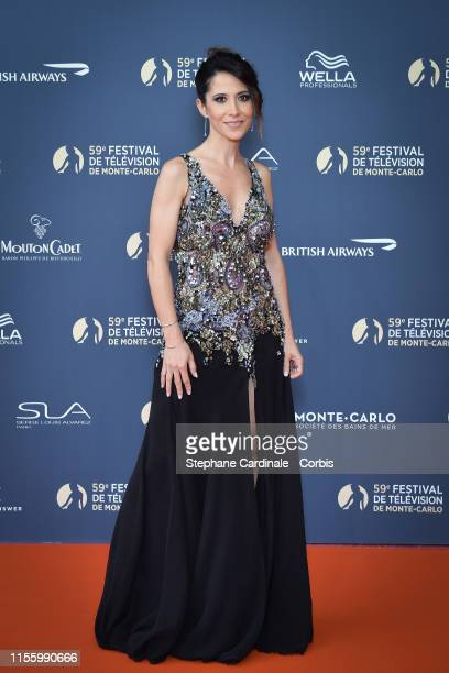 Fabienne Carat attends the opening ceremony of the 59th Monte Carlo TV Festival on June 14 2019 in MonteCarlo Monaco