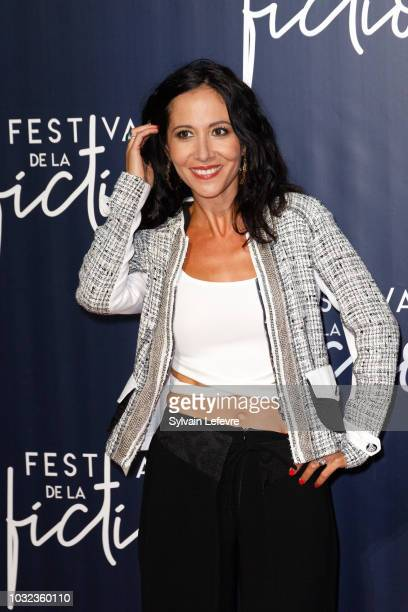 Fabienne Carat attends the opening ceremony photocall of the 20th Festival of TV Fiction on September 12 2018 in La Rochelle France