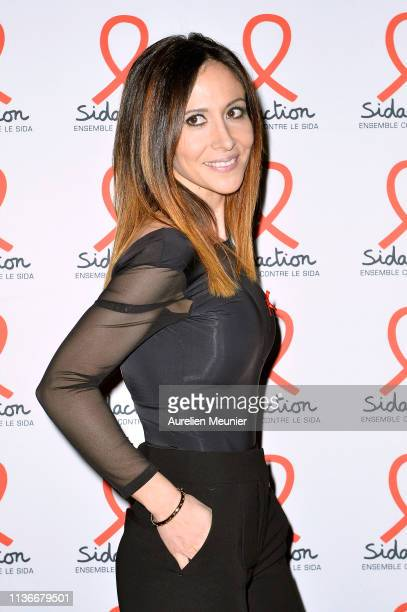 Fabienne Carat attends the Sidaction 2019 photocall at Salle Wagram on March 18 2019 in Paris France