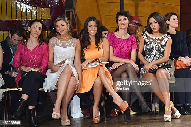 Fabienne CaratÊ Eleonore Boccara Ludivine Sagna Christophe Guillarme Josephine Jobert and Eglantine Emeye attend the Christophe Guillarme show as...