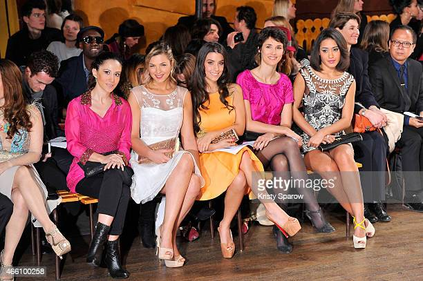 Fabienne Carat Eleonore Boccara Ludivine Sagna Eglantine Emeye and Josephine Jobert attend the Christophe Guillarme show as part of Paris Fashion...
