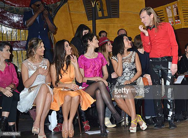 Fabienne Carat Eleonore Boccara Ludivine Sagna Josephine Jobert and designer Christophe Guillarme attend the Christophe Guillarme show as part of the...