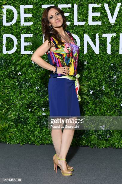 """Fabienne Carat from the show """"Section de Recherches"""" attends a photocall during the 60th Monte Carlo TV Festival - Day Twoon June 19, 2021 in..."""
