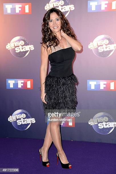 Fabienne Carat poses during the 'Dances With The Stars' photocall on October 7 2015 in Paris France