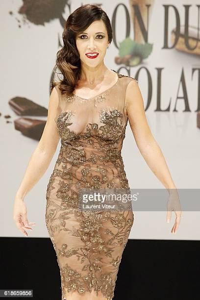 Fabienne Carat walks the runway during the Dress Chocolate Show as part of Salon du Chocolat at Parc des Expositions Porte de Versailles on October...