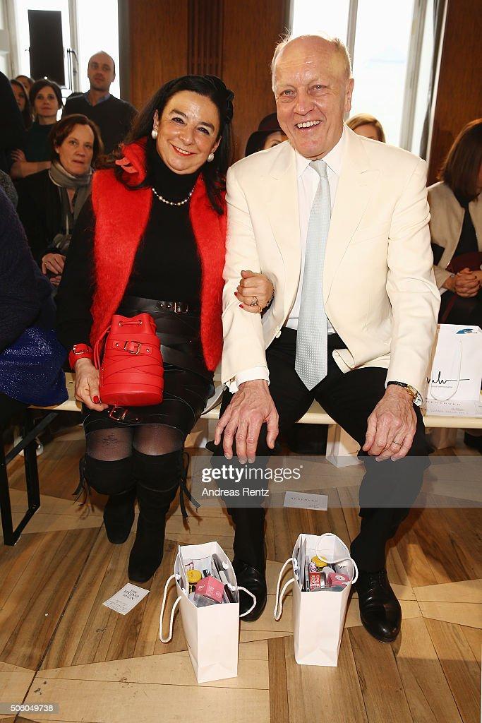 Fabienne Hoermanseder and Wilhelm Hoermanseder attend the Marina Hoermanseder show as part of Der Berliner Mode Salon during the Mercedes-Benz Fashion Week Berlin Autumn/Winter 2016 at Kronprinzenpalais on January 21, 2016 in Berlin, Germany.