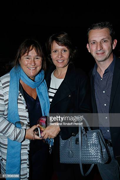 Fabienne Mozer Carole Rousseau and Romuald Ferrer attend the Coluche Exhibition Opening This exhibition is organized for the 30 years of the...