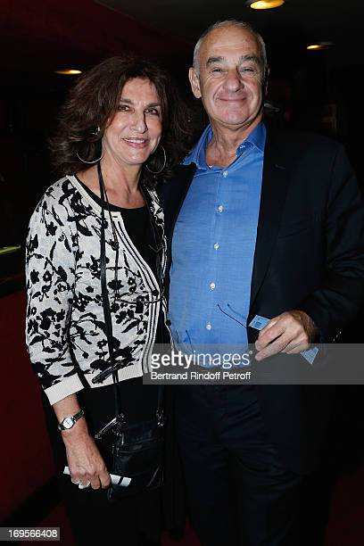 Fabienne Servan Schreiber and husband Henri Weber attend Homage To French Actor JeanClaude Brialy at Theatre des Bouffes Parisiens with the screening...