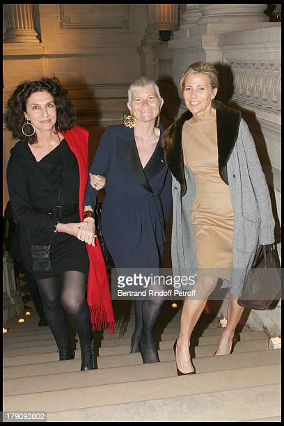Fabienne Servan Schreiber Martine Aublet and Claire Chazal at AixenProvence Classical Music Gala Festival