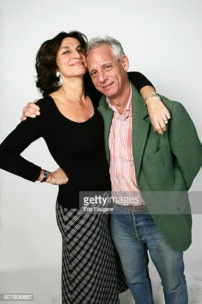 Fabienne ServanSchreiber and Nicolas Traube in the studio at the 2004 French Television Producer's awards