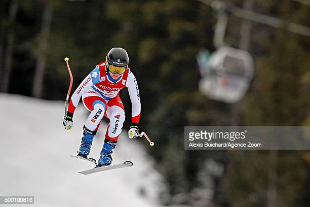 Fabienne Suter of Switzerland competes during the Audi FIS Alpine Ski World Cup Women's Downhill on December 05 2015 in Lake Louise Canada