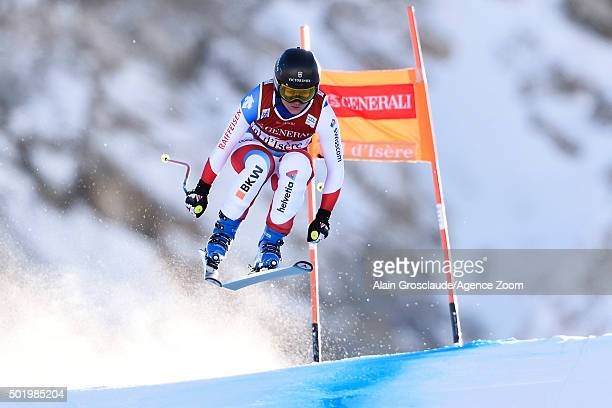 Fabienne Suter of Switzerland competes during the Audi FIS Alpine Ski World Cup Women's Downhill on December 19 2015 in Val dÕIsere France