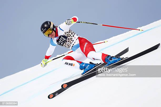 Fabienne Suter of Switzerland competes during the Audi FIS Alpine Ski World Cup Finals Men's and Women's Downhill Training on March 15 2016 in St...