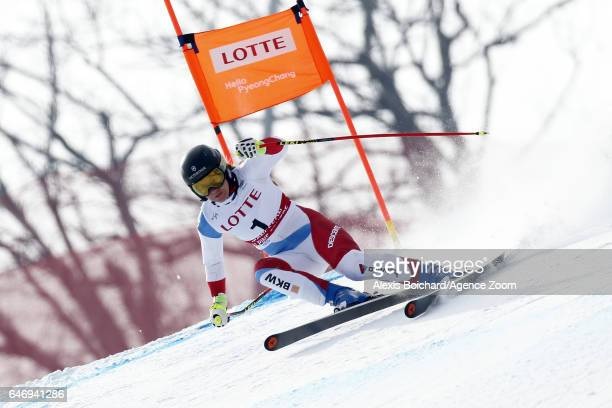 Fabienne Suter of Switzerland competes during the Audi FIS Alpine Ski World Cup Women's Downhill Training on March 02 2017 in Jeongseon South Korea