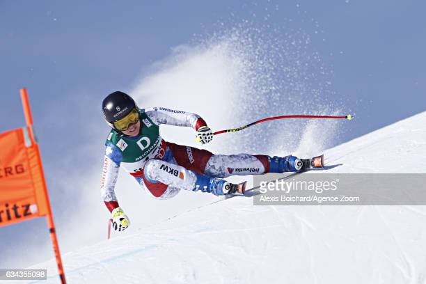 Fabienne Suter of Switzerland competes during the FIS Alpine Ski World Championships Men's and Women's Downhill Training on February 09 2017 in St...