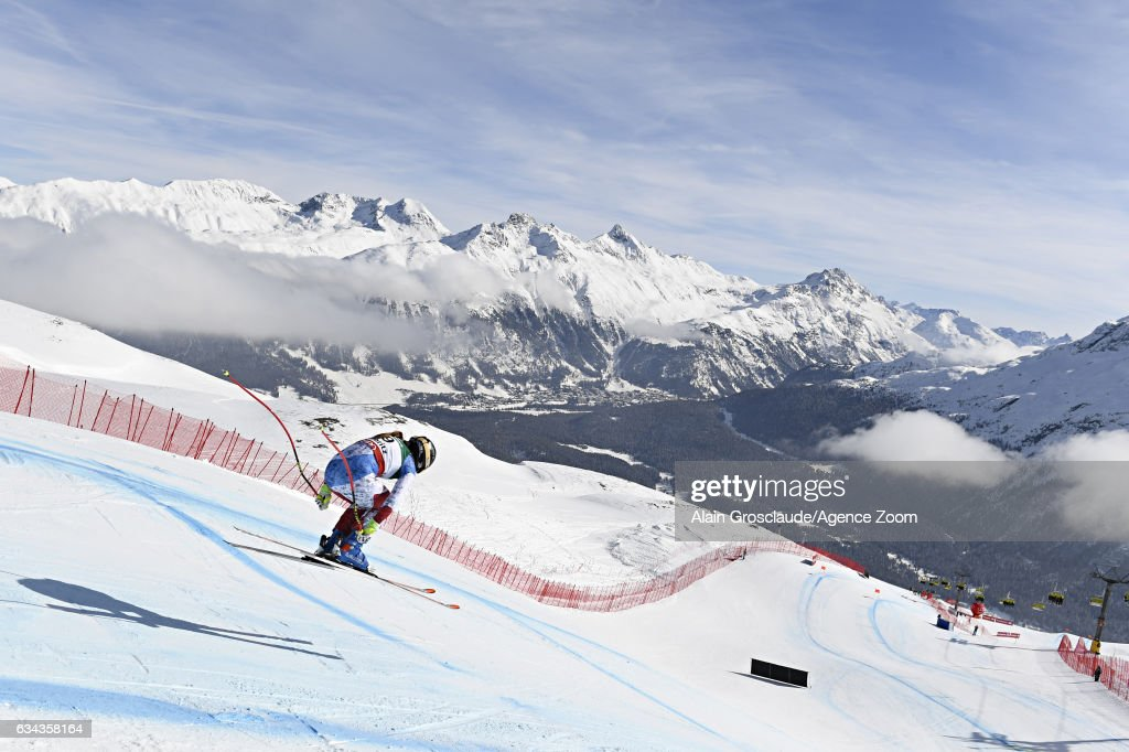 Fabienne Suter of Switzerland competes during the FIS Alpine Ski World Championships Men's and Women's Downhill Training on February 09, 2017 in St. Moritz, Switzerland