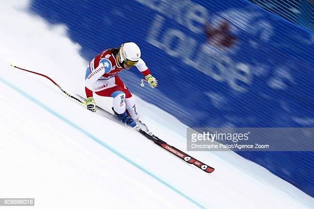 Fabienne Suter of Switzerland in action during the Audi FIS Alpine Ski World Cup Women's Downhill Training on November 30 2016 in Lake Louise Canada