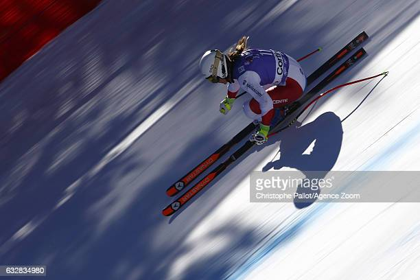 Fabienne Suter of Switzerland in action during the Audi FIS Alpine Ski World Cup Women's Downhill Training on January 27 2017 in Cortina d'Ampezzo...
